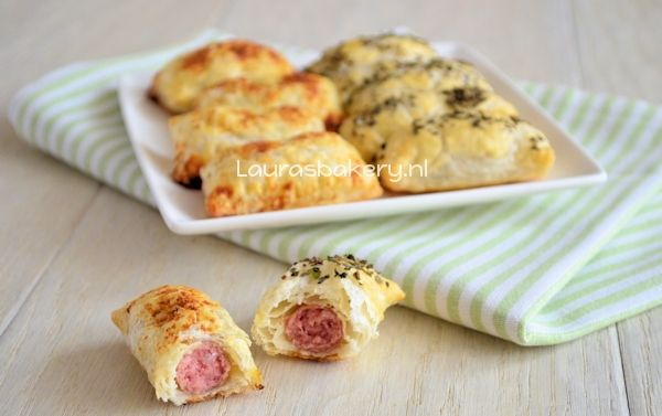 Mini worstenbroodjes - Laura's Bakery