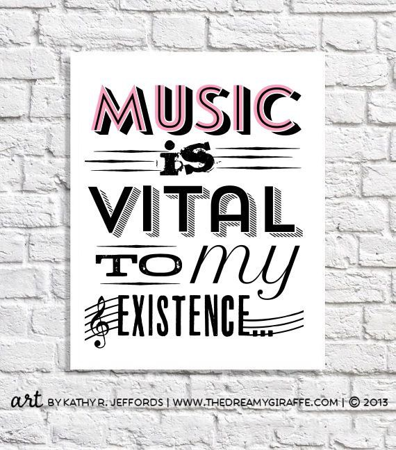 Music Art Print Gift For Musician Music Lover by thedreamygiraffe