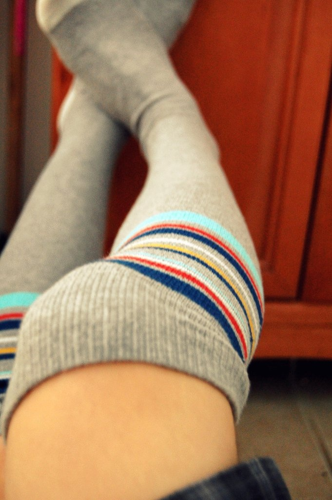 I have no idea where to find a pair of these socks, but I love them!