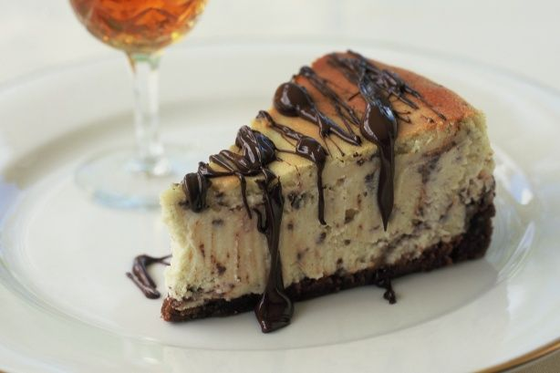 Amaretto cheesecake  make with salted caramel glaze