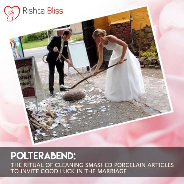 #Didyouknow –In Germany the night before the marriage, the guests smashes porcelain plates to ward of the evil spirits. On the wedding day the couple needs to clean them together, which is supposed to bring good luck to the couple. #Rishtohkikahani #Polterabend
