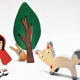 Drewniane zabawki Czerwony kapturek