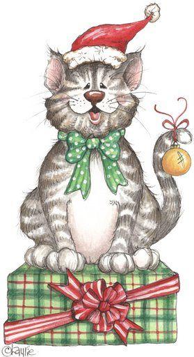 CHRISTMAS KITTY CAT CLIP ART | CLIP ART - CHRISTMAS 1 ...