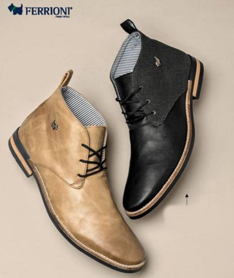Calzado Ferrioni. Botines de moda para hombre, botines para caballeros, zapatos, calzado de hombre. Venta por catalogo