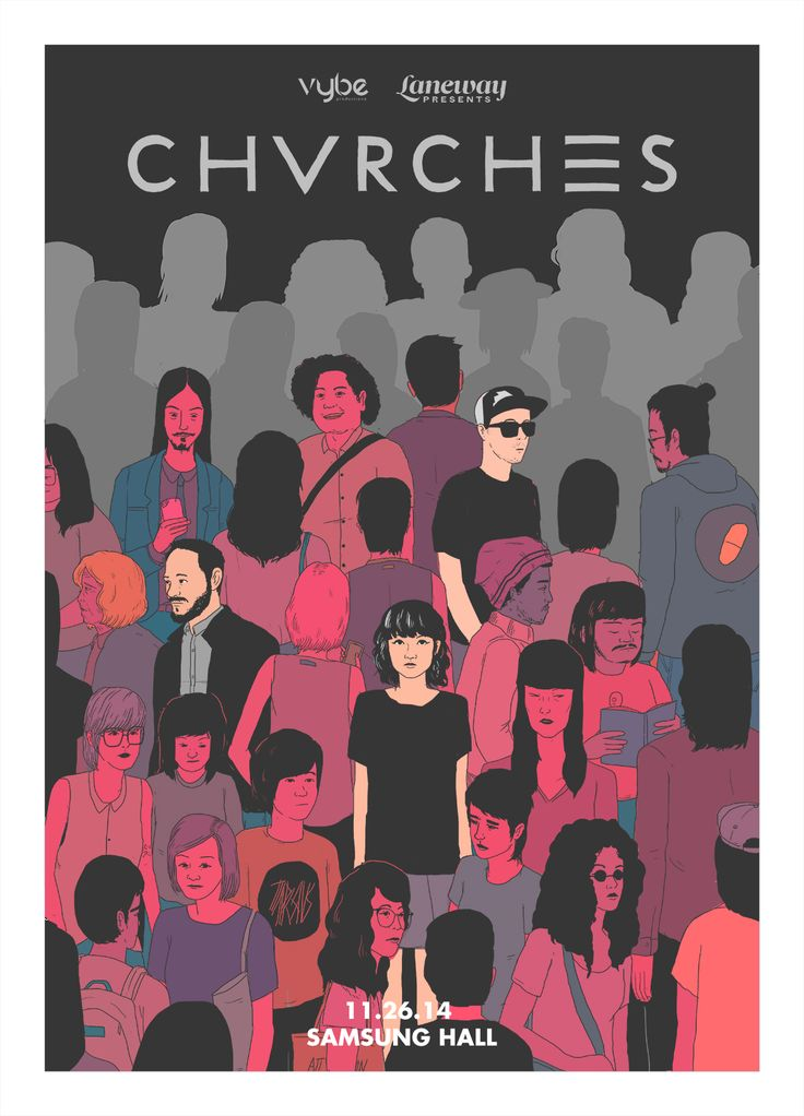 did the poster for CHVRCHES in Manila I am very happy