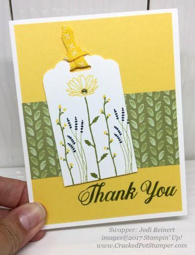 Stampin' Up! Delightful Daisy Designer Series Paper swap cards shared by Dawn Thomas (Jodi Reinert) #crackedpotstamper