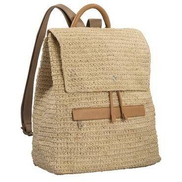 Helen Kaminski l Women's Designer Raffia Hats & Bags Online Crochet Leather Backpack l Helen Kaminski