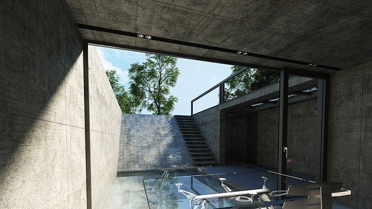 Minimalistyczny dom rezydencja zaprojektowana przez Architekta Seweryna Nogalskiego z Katowickiej pracowni architektonicznej Beton House