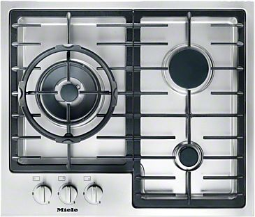 KM 2312 - Gas cooktop with a mono wok burner for special applications.--Stainless steel
