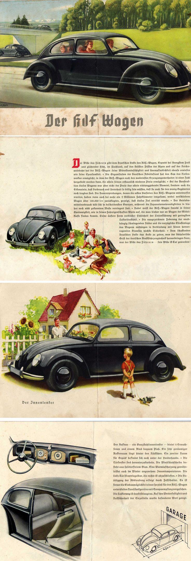 "The ""KdF-Wagen"" (German: Kraft durch Freude – ""strength through joy"")"