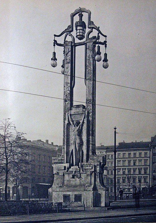 Oranienplatz, Oranienbrücke, erbaut 1905-07 von Bruno Schmitz, BfAuK 1909 / 3