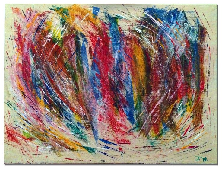 Abstract #2, Acrylic on Canvas #abstractart #art #visualart #paintings #acrylicpainting