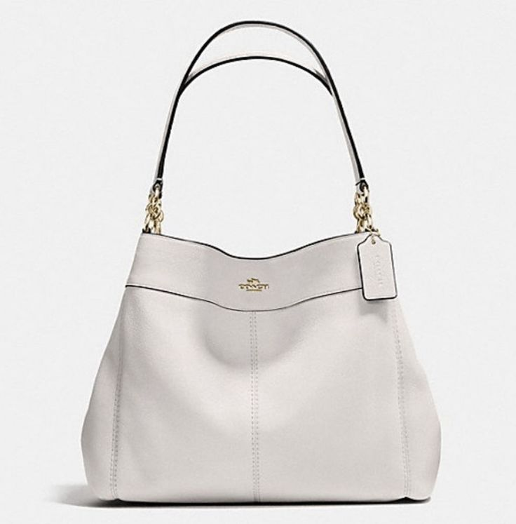 Coach Woman Textured-leather Tote Ivory Size Coach qe6xwM7O