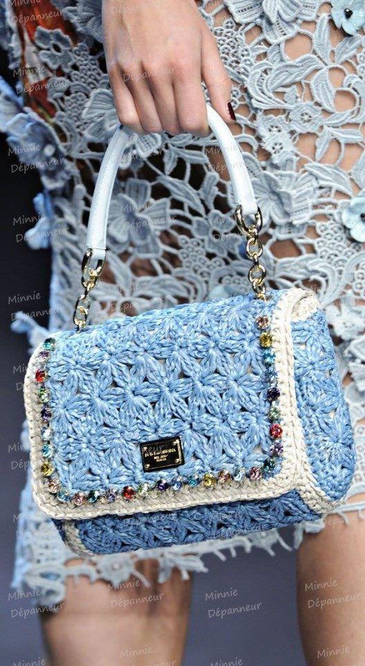 D crochet purse