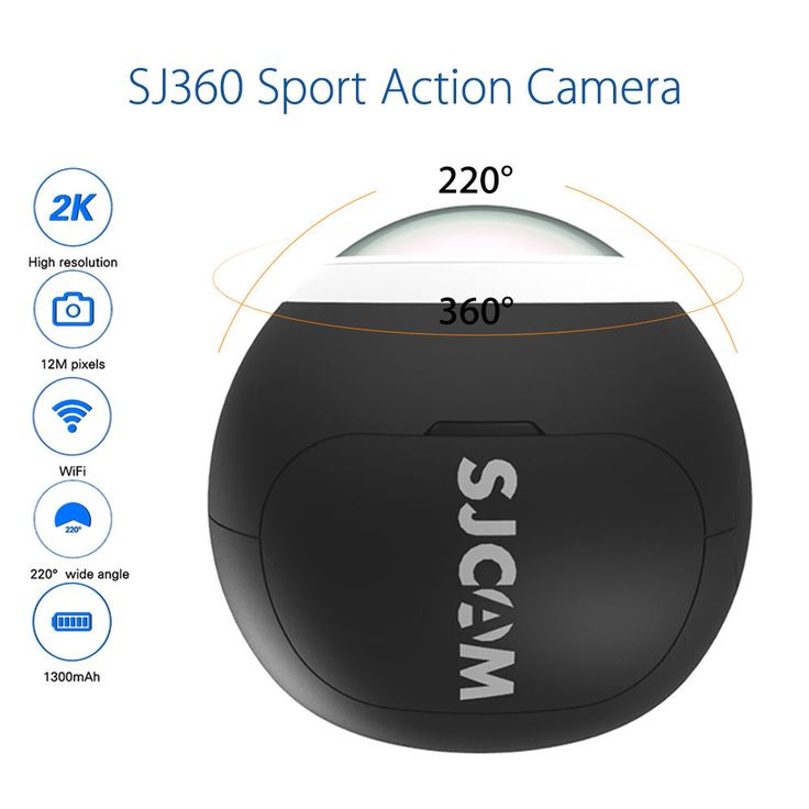 """SJCAM SJ360 360 degree 2K HD WiFi Panorama Action Helmet Camera 220 degree Wide Angle Fish-eye Lens VR Video30fps 12MP H.264 #Affiliate Do you search cheap action cam? You can see the buyer's guide on <a href=""""https://findthedecision.com/best-gopro-alternatives/"""">findthedecision site</a>  action cam 