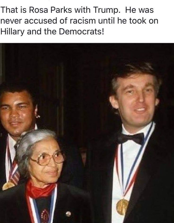 Mr. Trump and Mrs. Rosa Parks
