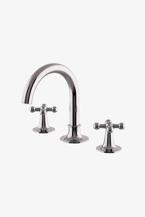 Dash Gooseneck Three Hole Deck Mounted Lavatory Faucet With Metal
