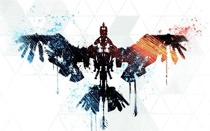 Descargar fondos de pantalla Horizonte Cero Amanecer, 4k de 2017, juegos, arte, AVENTURA, acción