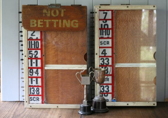 Racing Bookmaker Tote Boards Bookie Board Horse by FoundByHer