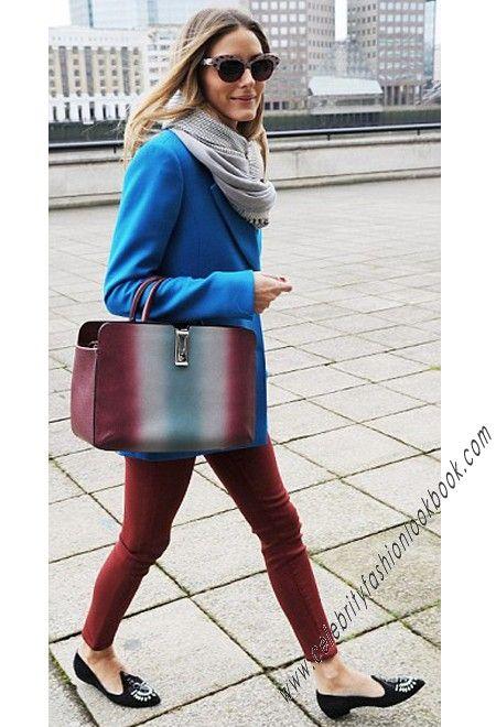 Olivia Blue Tailored Coat. US$46.24 FREE shipping worldwid - #outwear #jackets #blue #fashion