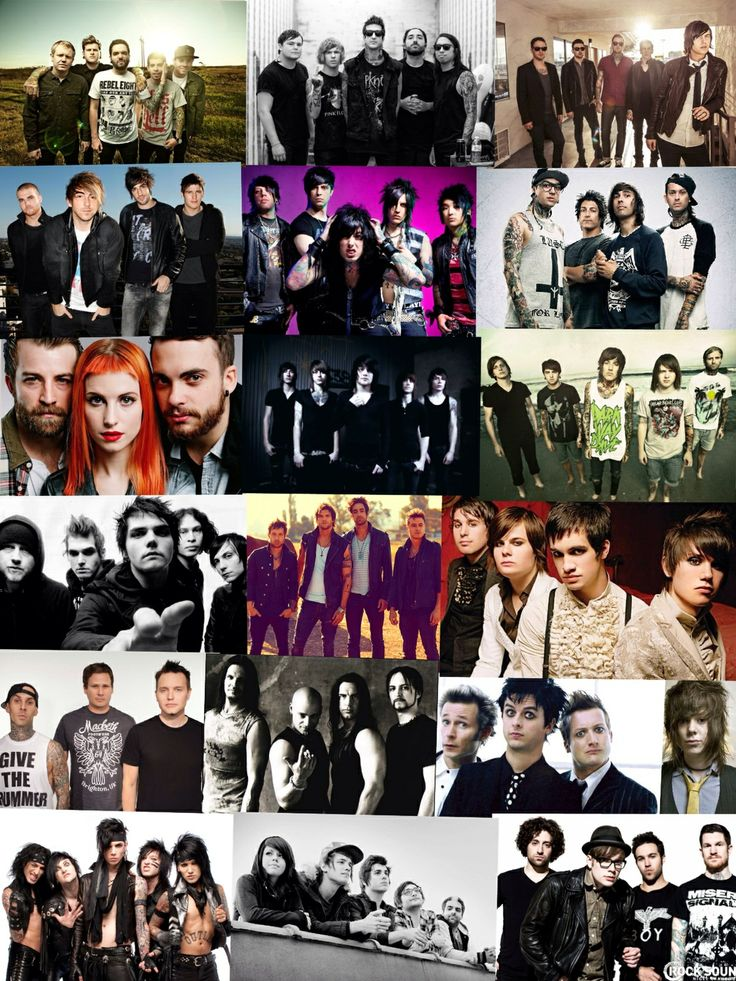 A Day To Remember, Of Mice And Men, Sleeping With Sirens, All Time Low, Falling In Reverse, Pierce The Veil, Paramore, Asking Alexandria, Bring Me The Horizon, My Chemical Romance, Boys Like Girls, Panic! At The Disco, Blink 182, Disturbed, Green Day, Never Shout Never, Black Veil Brides, We Are The In Crowd, Fall Out Boy.
