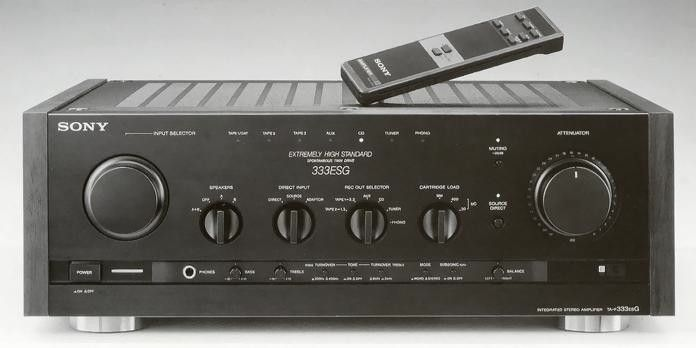 sony ta f333esg launched 1989 integrated amplifiers 4 pinterest sony. Black Bedroom Furniture Sets. Home Design Ideas