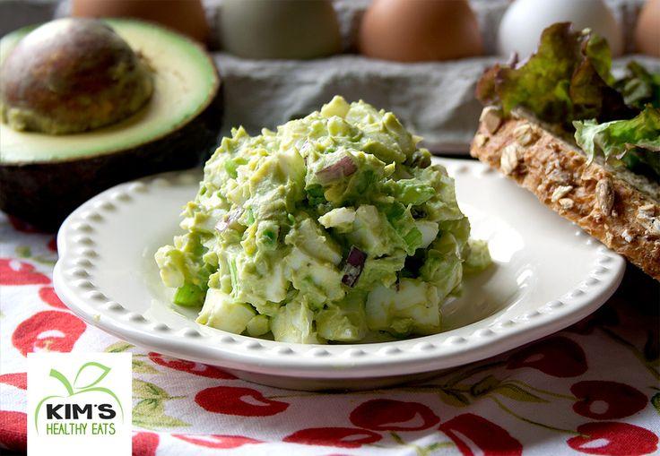 Avocado Egg Salad {avocado, eggs, celery, red onion, and greek yogurt ~ YUM!}