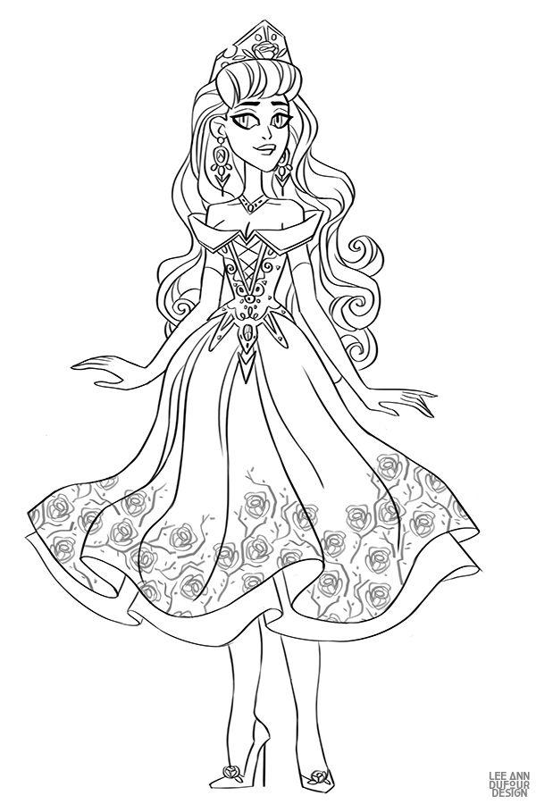 Раскраска Дисней Принцесса Аврора