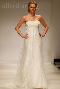 Brides Magazine: Modern Vintage by Alfred Angelo - Fall 2012 | Bridal Runway Shows | Wedding Dresses and Style | Brides.com