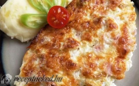 Sonkás-újhagymás csirkeszelet recept fotóval