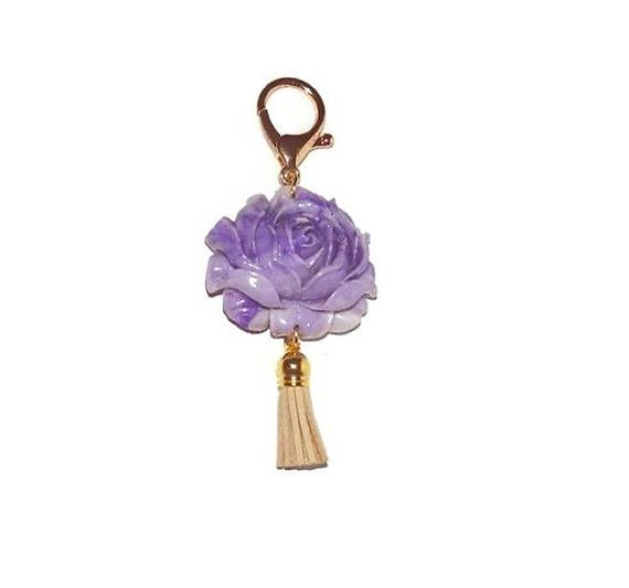 Large Key Ring Charms Key Ring With Hook Bag Clip Zipper