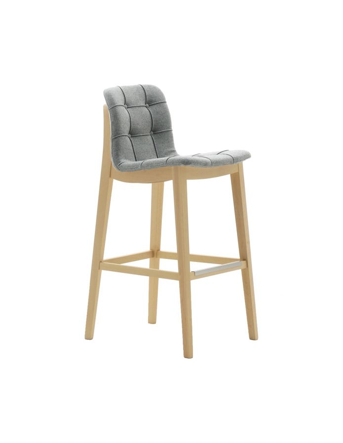 Light 03281k Barstool Solid Timber Legs Upholstered In
