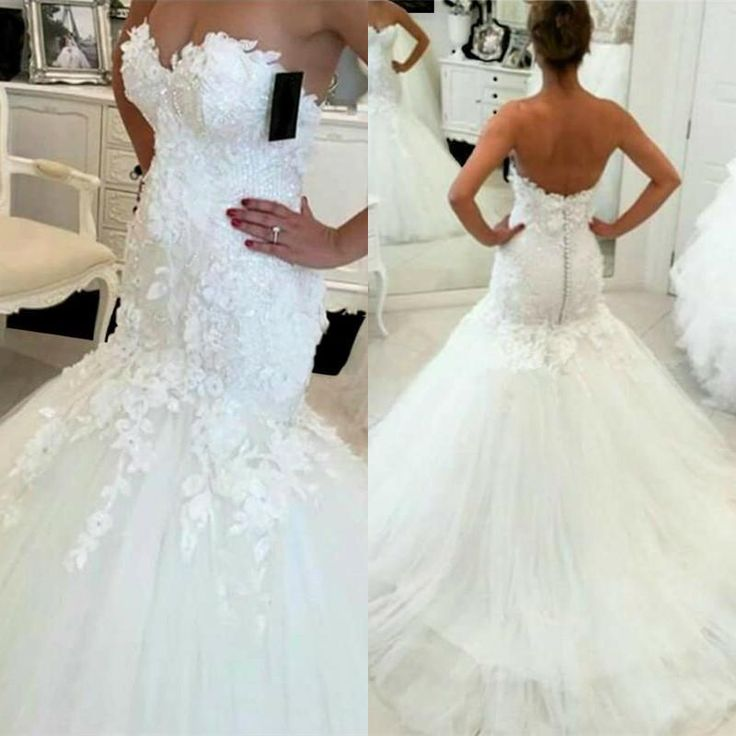 Bling Brides Bouquet online Bridal Store Lace Mermaid Wedding Dress with Tulle S…
