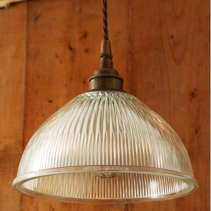 Boston Industrial Holophane Pendant Light