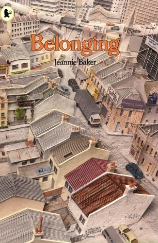 Picture Book: 2005 HONOUR Picture Book 'Belonging' by Jeanne Baker. Shows how even people in urban communities are working towards bringing back the variety of local native plants and animals that once lived there but they need to nurture the unique character of the place they live in.