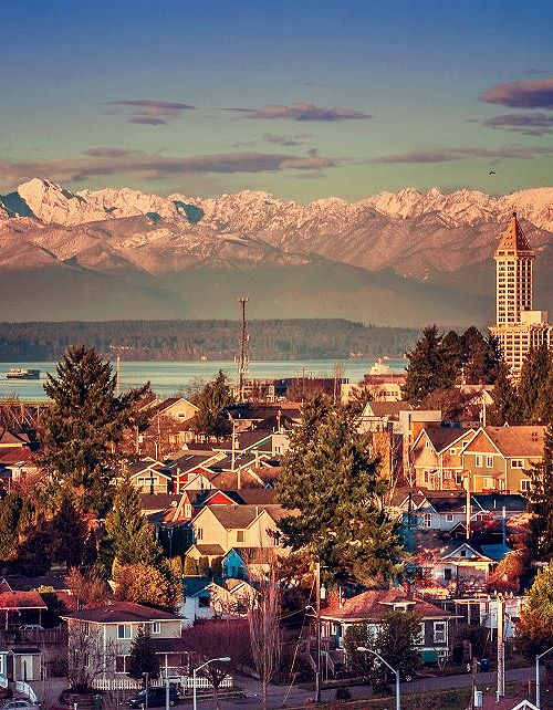 Seattle. A very different view...wouldn't even have recognized it..but, a beautiful photo.