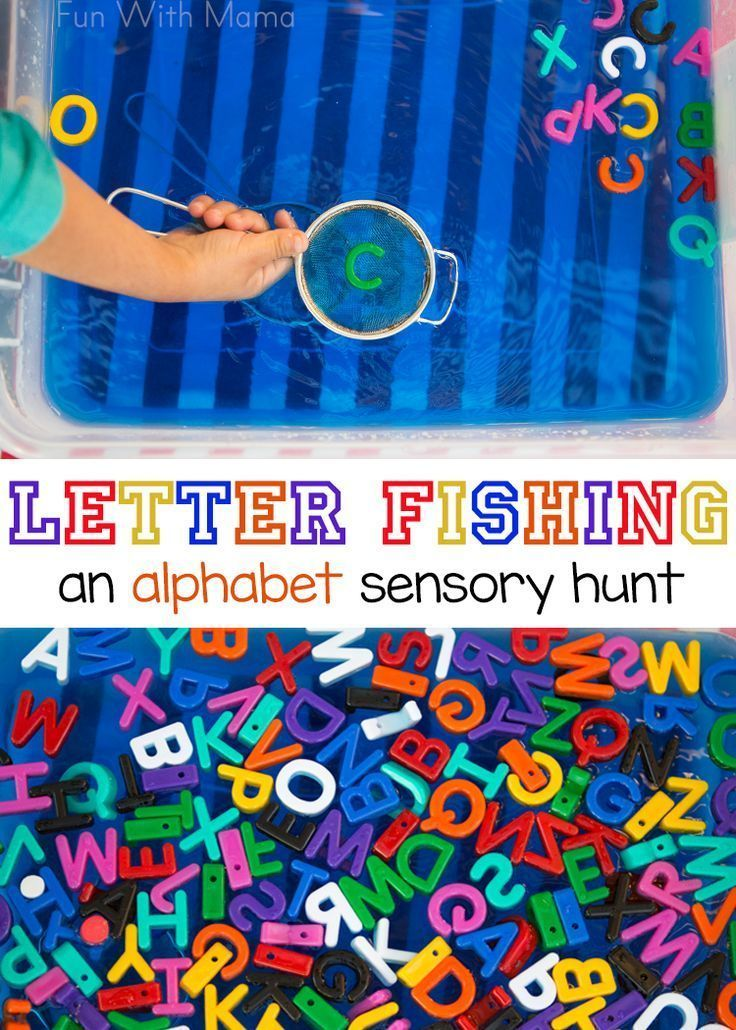 This alphabet letter fishing preschool activity is great for toddlers or elementary aged kids. It can be used for sight words, name recognition and single alphabet letters too. Add this preschool letter activity to go with your letter crafts. Add this activity to your letter crafts for a quick to put together sensory bin!