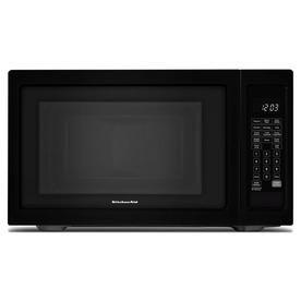 Kitchenaid 1.6-Cu Ft 1200-Watt Countertop Microwave (Black) Kmcs1016gbl