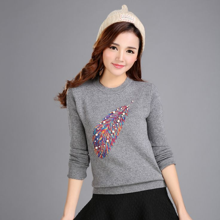 Free Shipping New Fashion 2015 Autumn Winter for womens Cashmere sweaters Thick loose Warm Knitted Sweet. Click visit to buy