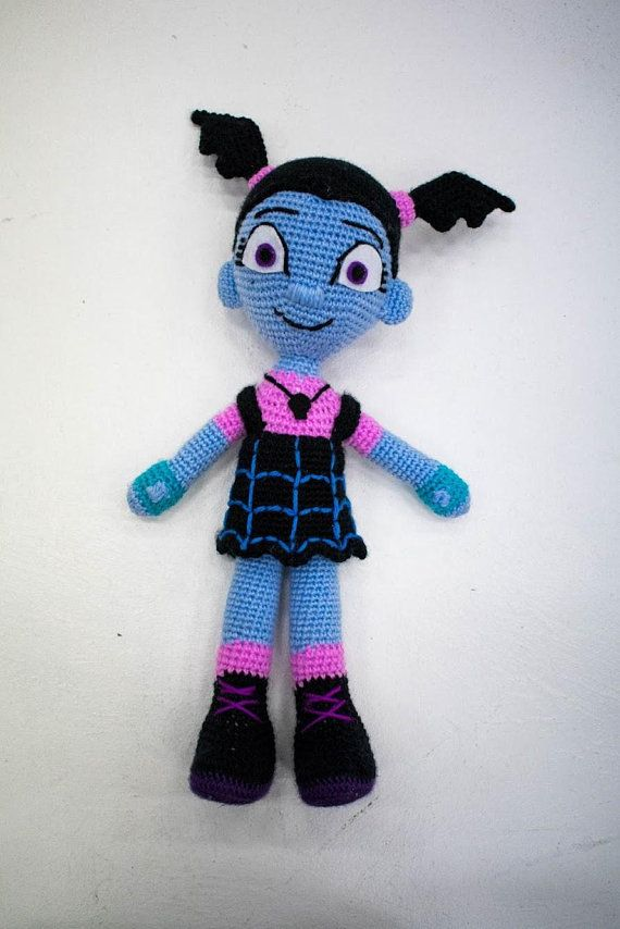 Vampirina Amigurumi Doll | Black felt, Amigurumi doll and Baby blue