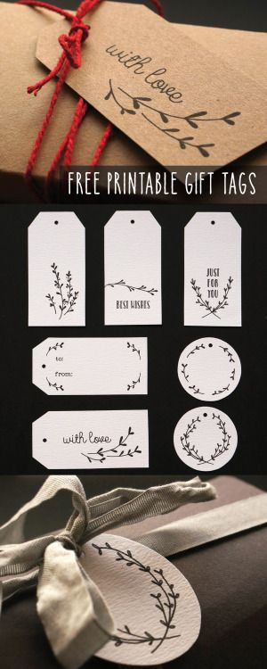 Some sweet little hand illustrated gift tags, the perfect finishing touch to…