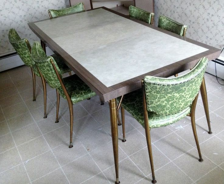 midcentury gray kitchen tables and chairs google search - Modern Kitchen Tables