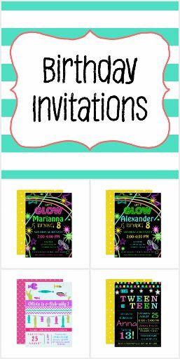 Birthday Invitations Kids First 1st 2nd 3rd Trendy Ideas 4th 5th Tween