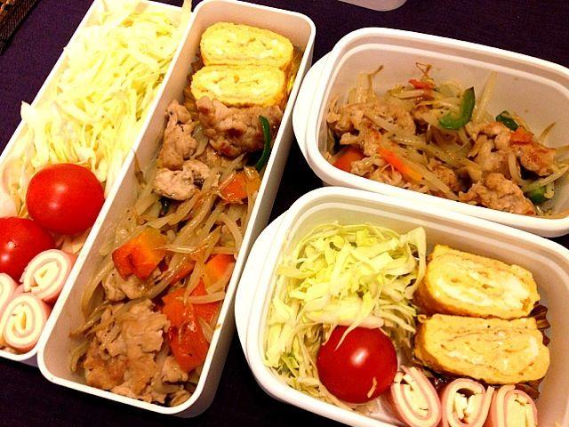 豚少なめもやし多め(笑) - 31件のもぐもぐ - お弁当♡豚もやし炒め、卵焼き、ハム&チーズ、サラダ by usaco123