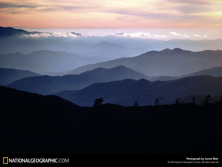 The Great Smoky Mountains. My childhood was spent hiking in these mountains.