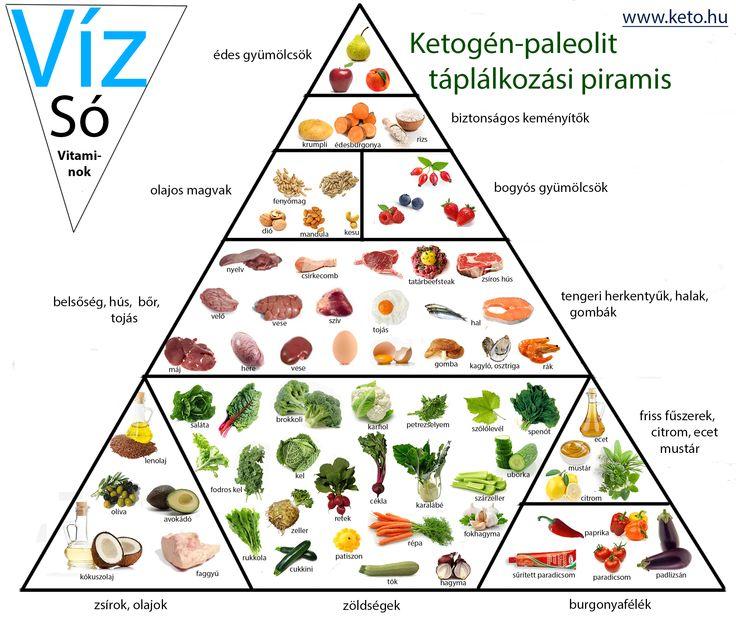 Ketogén-paleolit Táplálkozási piramis!