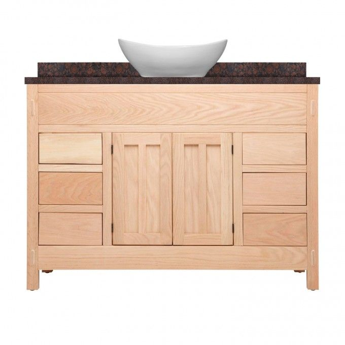 48 Unfinished Mission Hardwood Vessel Sink Vanity Bathroom Vanities Bathroom And Vanities