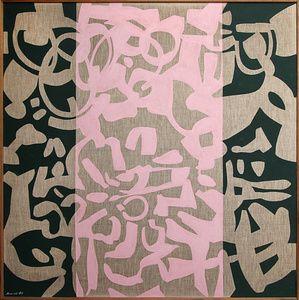 CARLA ACCARDI Per L'Infinito lo Scirocco n. 2', 1987 Vinyl on canvas 57 × 57 in 144.8 × 144.8 cm