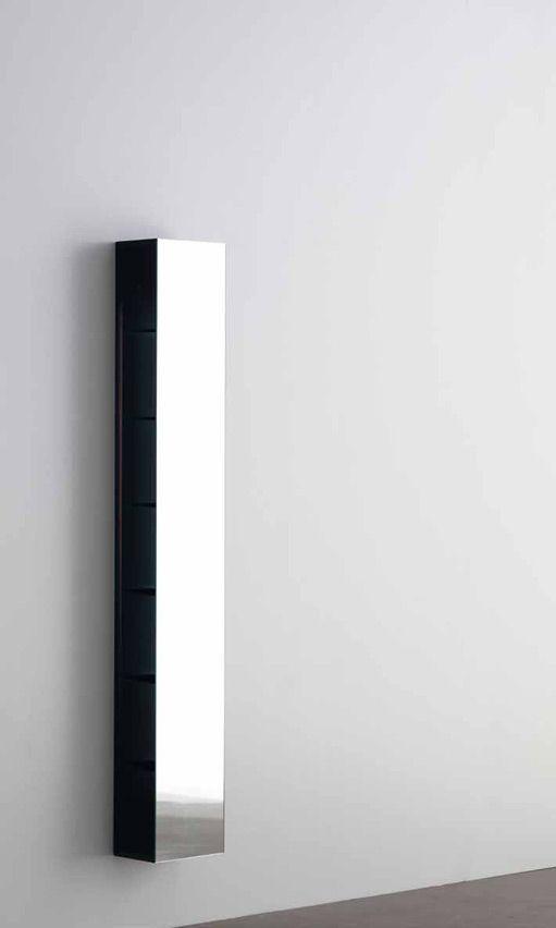 Minimal mirror bathroom storage, Shy light & cubo by Rifra _