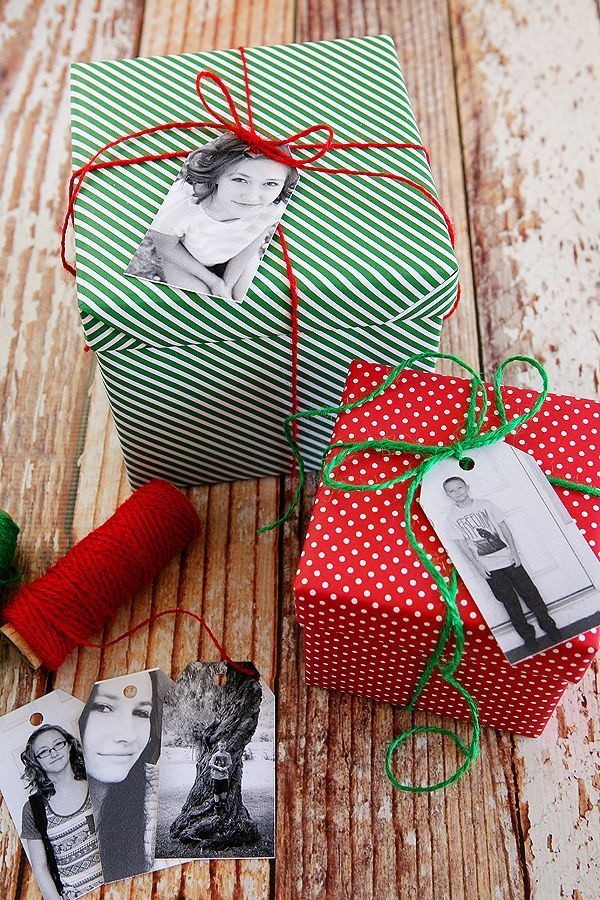 How to make Custom Photo Gift Tags for Christmas. Love these!